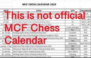 MCF Chess Calendar Disclaimer