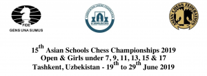 15th Asian Schools Chess Championships 2019