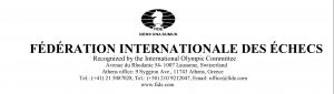 Congratulatory Letter From FIDE