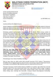 Surat Terbuka Presiden MCF Kepada YB Dr Maszlee Malik